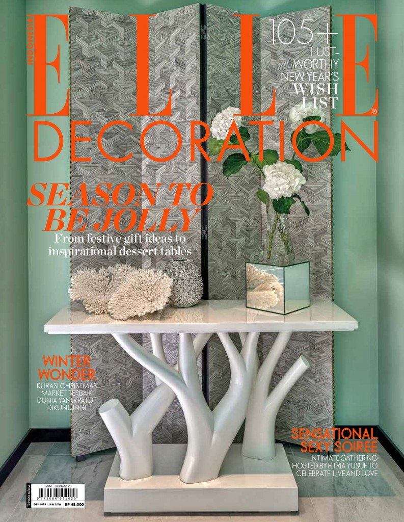 COVER ELLE DECOR DES 2015 - JAN 2016